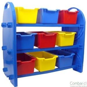 Mueble pl stico organizador 9 bandejas comercial for Vallas infantiles plastico